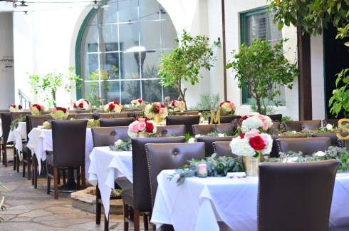 Wedding Reception Flowers - Santa Barbara, California